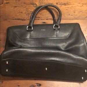 Furla black structured bag